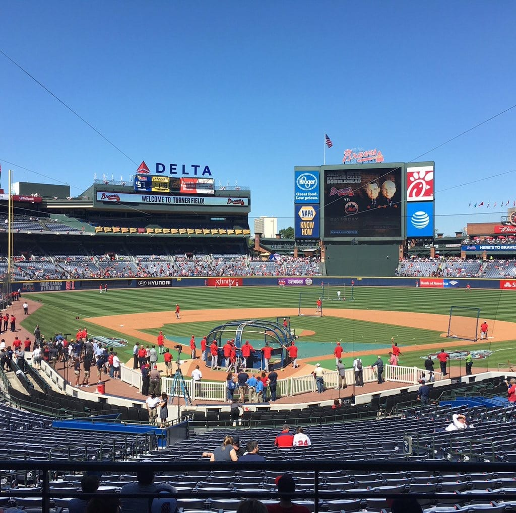final opening day at Turner Field