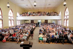 Students, parents, and teachers gathered in Mercer's Willingham Hall Auditorium for the awards ceremony.