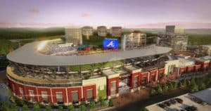 SunTrust Park, rendering, east view