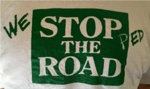 The Stop the Road became We Stopped the Road for the reunion invite