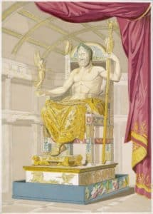 Statue of Zeus from Antoine Quatrmère de Qunicy's Le Jupiter Olympein, 1814. Mary Evans Picture Library / Alamy