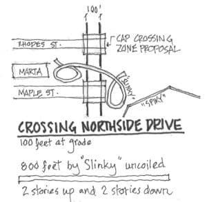 Dobbins drawing Northside Drive