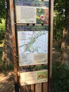 Peachtree Creek, wayfinding sign