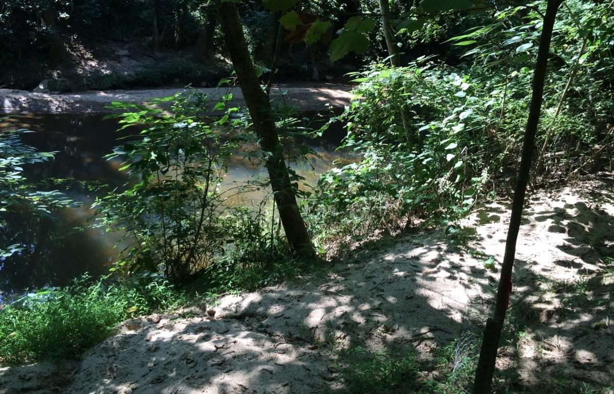 Peachtree Creek, sandy trail