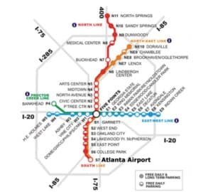 MARTA rail stations