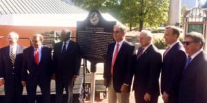 The Georgia Historical Society unveiled a historic marker at Centennial Olympic Park on Nov. 1 to commemorate the 1996 Summer Olympic Games.