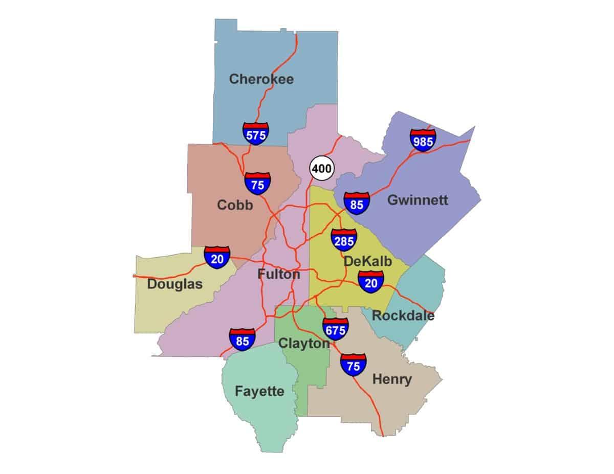 10-county Atlanta region