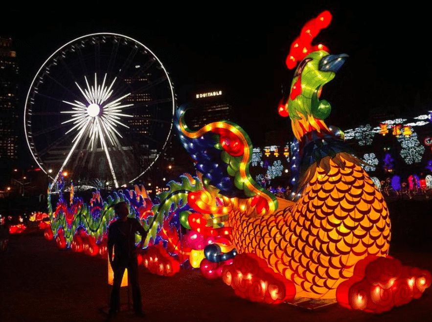 Bonnie Heath captured this amazing shot from the Chinese Lantern Festival at Centennial Olympic Park.
