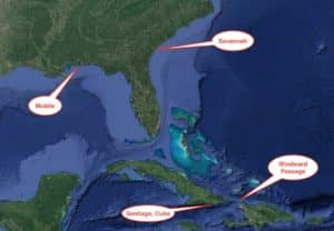 Cuba trade routes