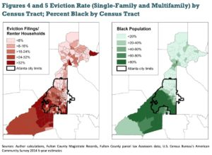 Eviction rates by census tract