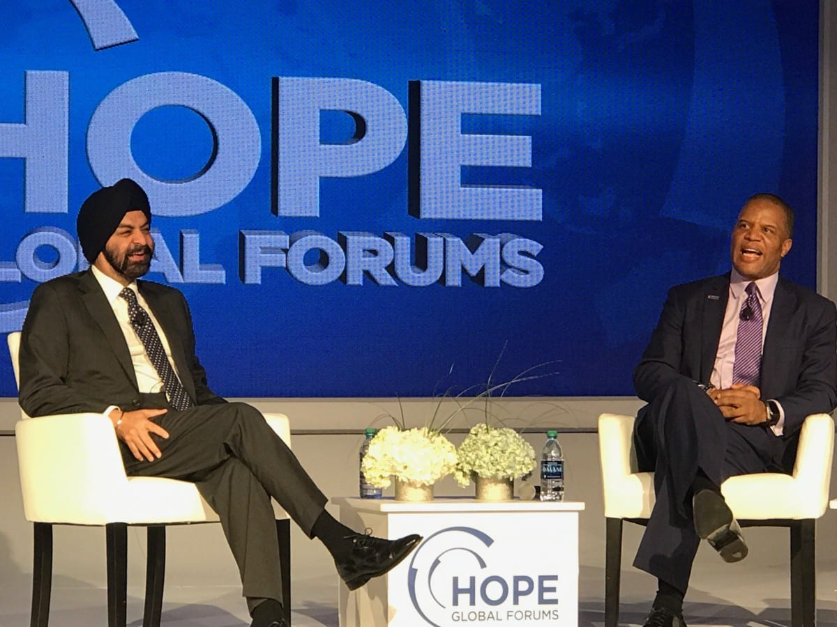 Ajay Banga and John Hope Bryant