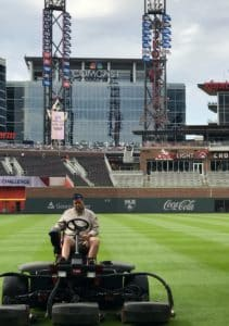 getting the field ready