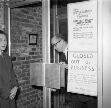 Rather than integrate it, Maddox closed his restaurant in 1965. (Atlanta Journal-Constitution)