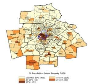population below poverty, 2000
