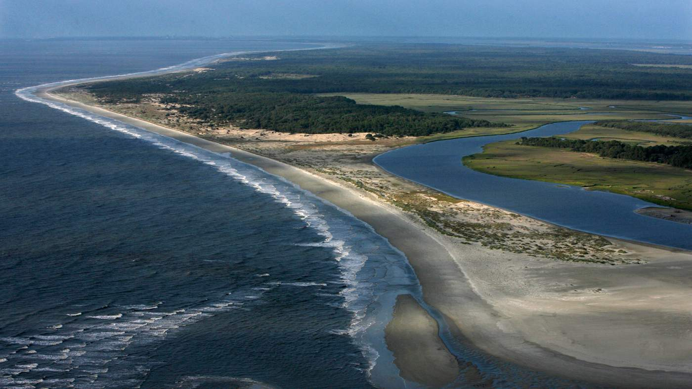 Aerial view of Cumberland Island, May 2017