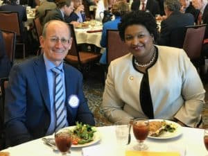 A.J. Robinson and Stacey Abrams
