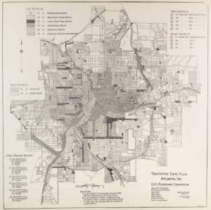 Atlanta zoning map, 1922