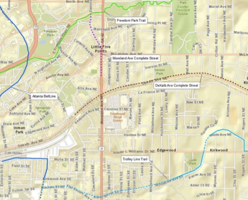 locator map, complete streets