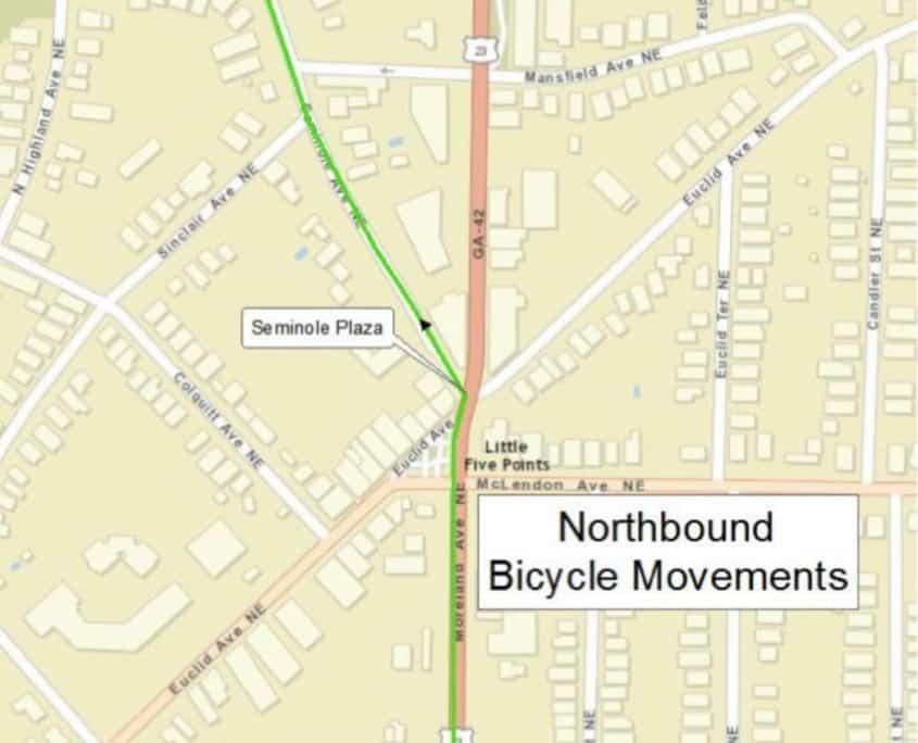 northbound bike movements, moreland