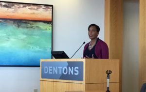 Keisha Lance Bottoms on Monday at Dentons Downtown. Credit: Maggie Lee