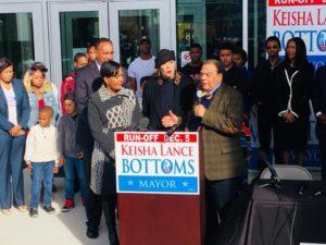 Former Atlanta Mayor Andrew Young endorsed Keisha Lance Bottoms (at left) for mayor last week. Credit: Keisha Lance Bottoms campaign/Facebook