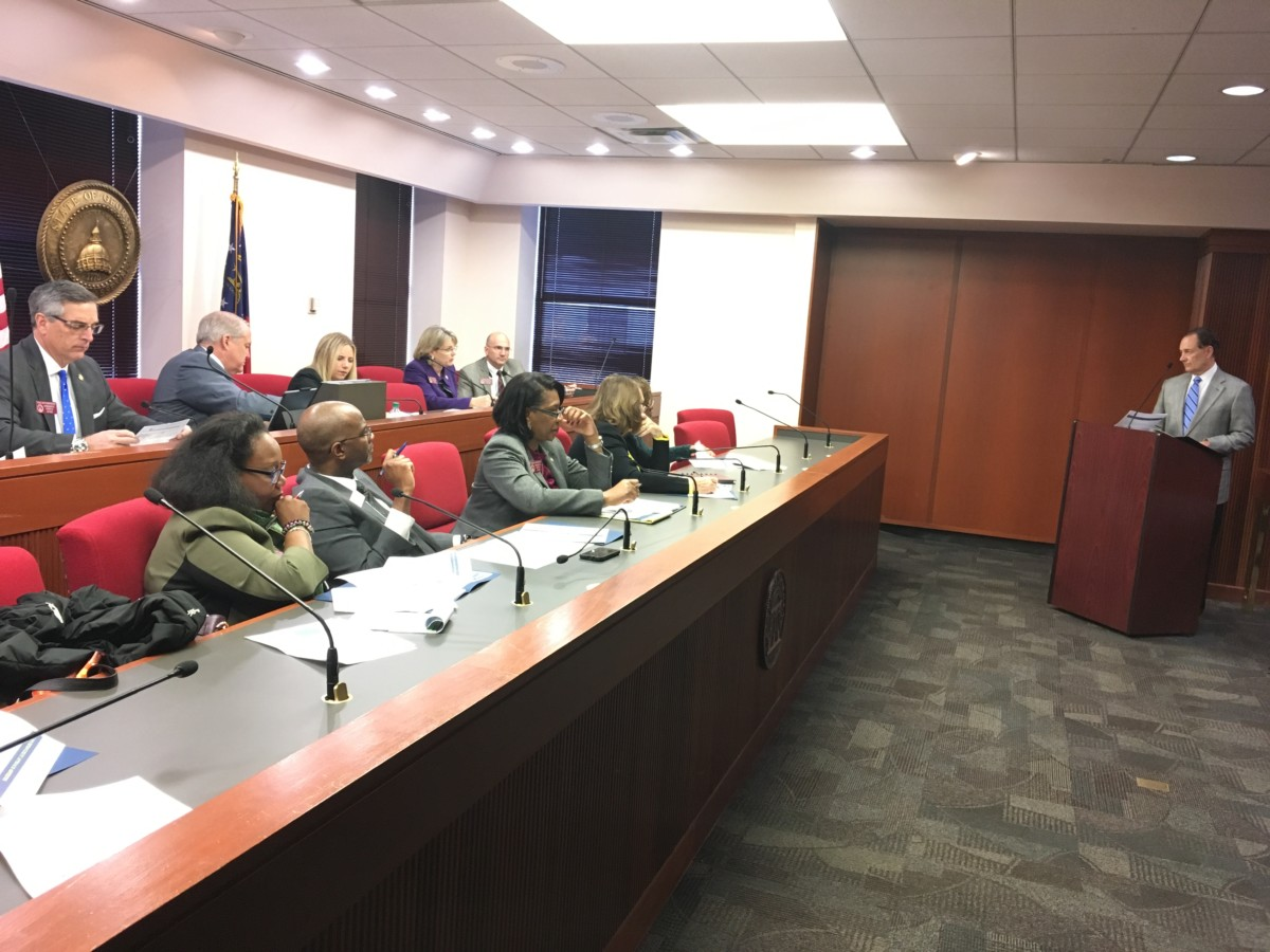 State House members from Fulton County hear an update on tax assessments from County Manager Dick Anderson, Tuesday morning at the state Capitol. Credit: Maggie Lee