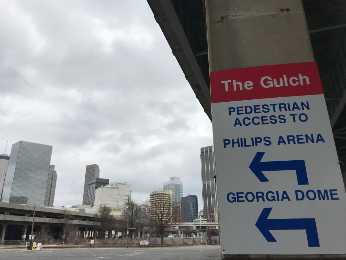 Downtown's Gulch, which may be part of Georgia's pitch for Amazon's second headquarters. Credit: Kelly Jordan