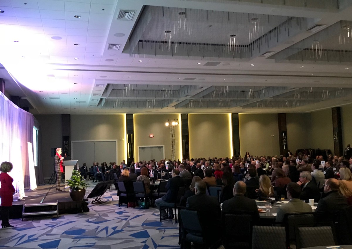 A few hundred political and business leaders attended the State of MARTA breakfast Friday. Credit: Kelly Jordan