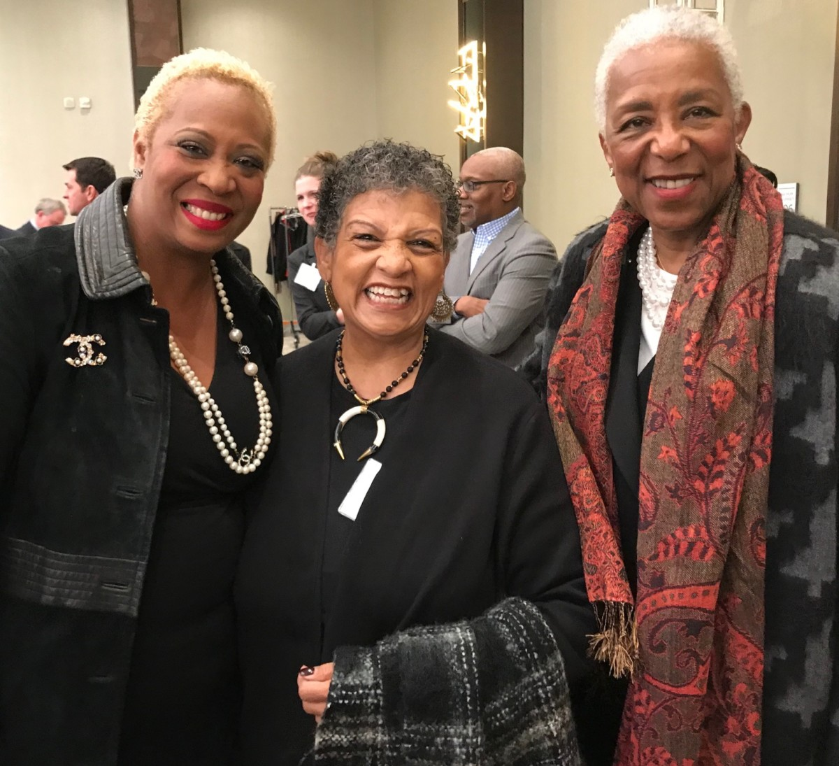 Former MARTA CEO and General Manager Beverly Scott (center) with guests at the State of MARTA breakfast. Credit: Kelly Jordan