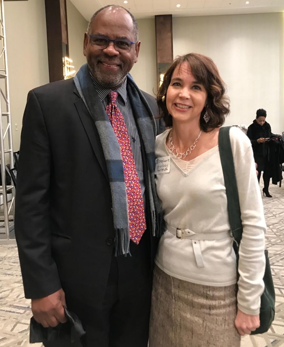 Atlanta Regional Commission Executive Director Doug Hooker and Atlanta Chief Resilience Officer Stephanie Stuckey at the State of MARTA breakfast. Credit: Kelly Jordan