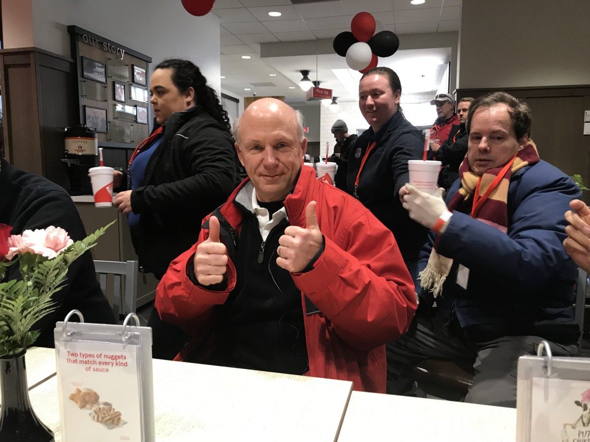 Dan Cathy thumbs up