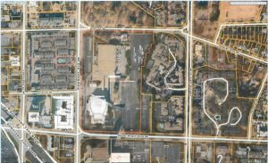A slide from the Atlanta Housing Authority shows the boundaries of the Civic Center site.