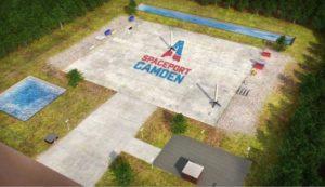 spaceport camden, logo