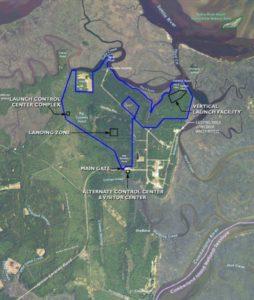 spaceport, locator map