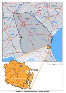 spaceport, state locator map, edit