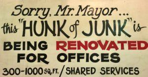 Hunk of Junk sign