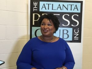 Democratic gubernatorial candidate Stacey Abrams in a May file photo. Credit: Maggie Lee