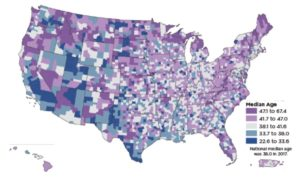 census, youngest counties