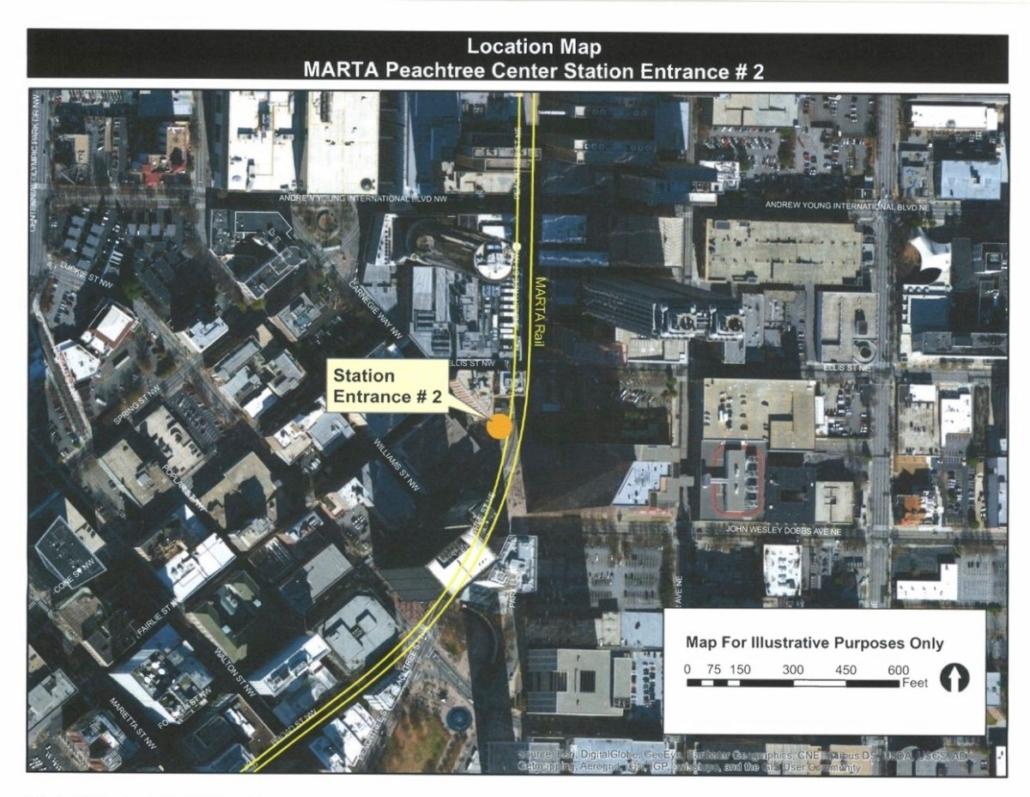 Peachtree Center MARTA map