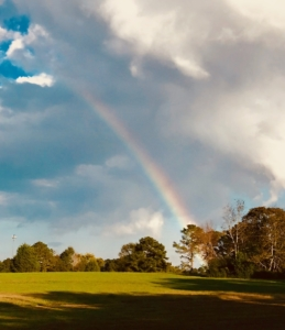 A rainbow in Chattahoochee Hills. Credit: Kelly Jordan