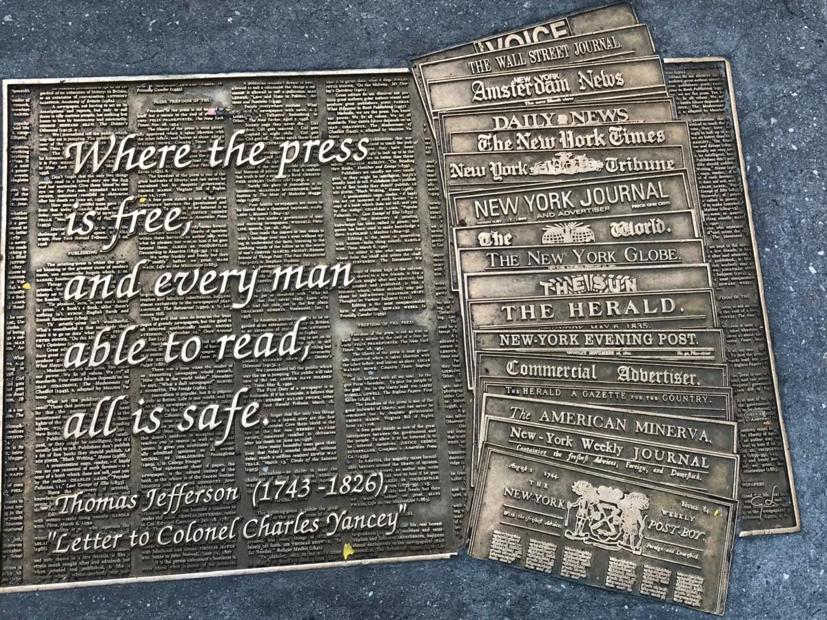 NYC plaque