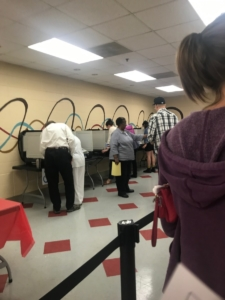 Voting on Nov. 6, 2018 at Bessie Branham Recreation Center in DeKalb County. Credit: Britton Edwards