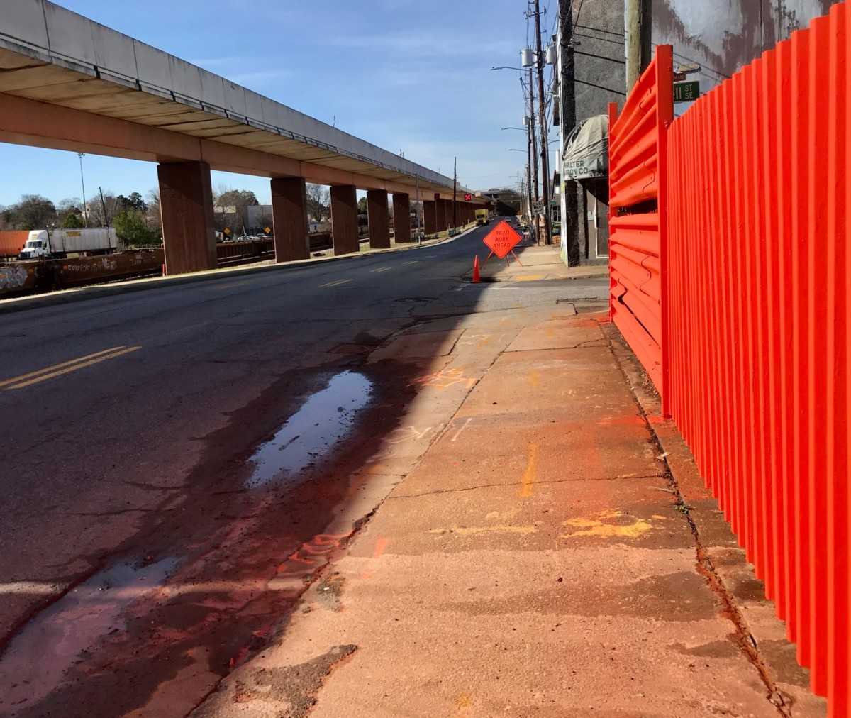 """DeKalb Avenue is slated for a """"complete street"""" upgrade, though the idea has run into objections. Credit: Kelly Jordan"""