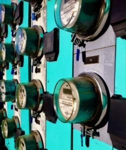 Electric meters in Atlanta. Credit: Kelly Jordan