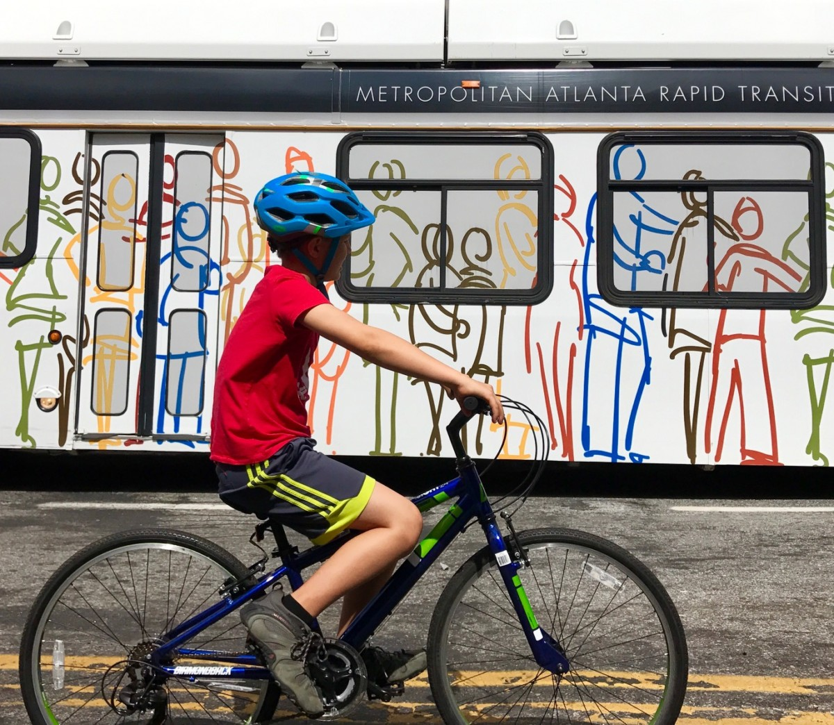 """Complete streets"" are those that have safe spaces for cyclists, people walking, people driving and those catching the bus . Photo by Kelly Jordan"