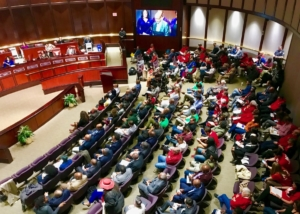 Atlanta City Council chambers were packed Monday, ahead of the Gulch vote. Credit: Kelly Jordan