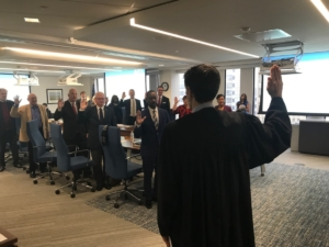 The ATL board gets sworn in on Dec. 14, 2018. Credit: Maria Saporta