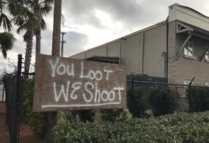 hurricane michael, you loot we shoot