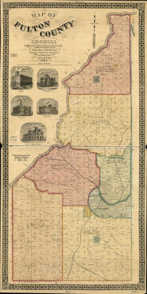 Fulton County Map. 1872