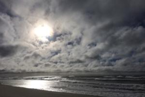coast, clouds